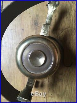 Superb Antique Brass Shop Door Bell / Servants Call Bell / Comes With Hanger