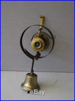 Superb Antique Brass Shop Door Bell / Servants Call Bell / Gate Bell / Genuine