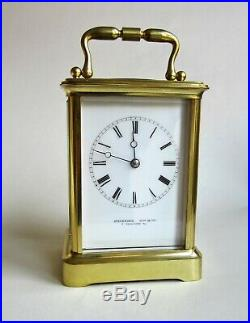 Superb Bell Striking 8 Day Carriage Clock by Stevenard of Boulogne. 1860