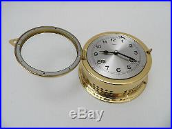 Superb Franz Hermle Smith 8 Bells Brass Ships Clock Fully Working