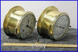 Swift Model 413 Marine Bell Clock and matching barometer, both working
