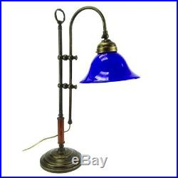 Table Lamp Office Ministry Old England Studio Bell Blue Brass