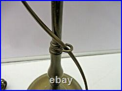 Tall Laura Ashley Antique Brass Table Bankers Lamp & Shade