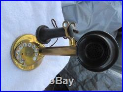 Telephone Antique Old American Bell Western Electric Last Patd 1920 All Brass