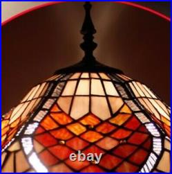 Tiffany Style Floor Lamp Vintage Light 16inch Stained Glass Handcrafted Lamps