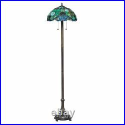 Tiffany Style Handcrafted Pearl Vintage Floor Lamp 16 Shade