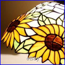 Tiffany Style Hanging Floor Lamp Stained Glass Vintage Lamps Handcrafted Light