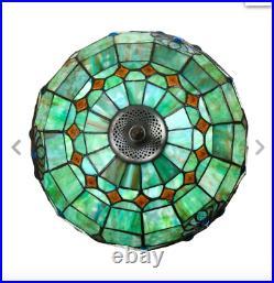 Tiffany Style Vintage Blue Pearl Floor Lamp 16 Shade New