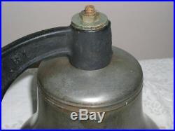 U. S. Navy Brass Quarter Deck Bell with Mount