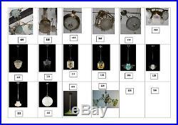 Unique Antique 1910s Modernist Glass Square Chandelier Vintage Lamp Belle Epoque