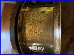 VINTAGE CHELSEA SHIPS BELL CLOCK 6 w Mahogony Base Runs Gd Classic
