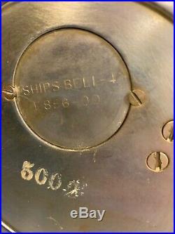 VINTAGE SETH THOMAS NICKEL PLATED SHIPS BELL 4-CLOCK E886-00, Ca 1935-1949, WORKS