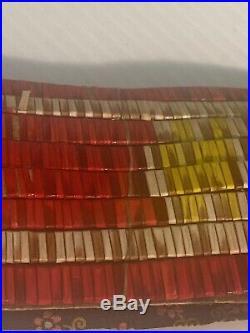 VINTAGE SIOUX PLAINS INDIAN QUILLED MAN'S HAIR TiE BRASS BELLS + PARFLECHE