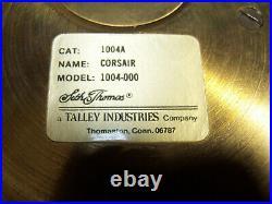 VTG SETH THOMAS BRASS BELLS SHIP CLOCK & Barometer Cat NO. 1004 CORSAIR E537- 000