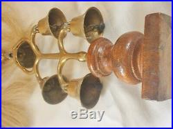 Very Rare Antique 5 Bell Harness Terret With Flowing Plumesuperbhorse Brass