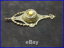 Very fine and ornate door bell / brass date 1905 rd 476369
