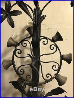 Victorian Antique Mechanical RING OF BELLS Door Bell Wrought Iron Brass Bells