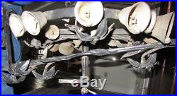Victorian Antique Mechanical'RING OF BELLS' Door Bell Wrought Iron Brass Hand