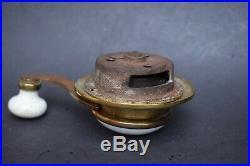 Victorian Brass & Porcelain William Tonks Servants Bell Pull old vintage antique
