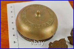 Victorian New Britain Corbins Door Bell Brass & Cast Iron 1870s Great Tone