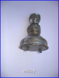 Vintage 1940's SPEAKMAN Art Deco CHROME Shower Head Bell Shape Bathroom plumbing