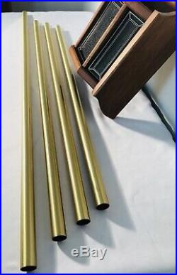 Vintage 1987 NUTONE Door Bell LD-49 Chimes 4 Brass Tubes With Lights MCM MINT