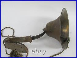 Vintage 8 Diameter Brass Nautical Ships Bell