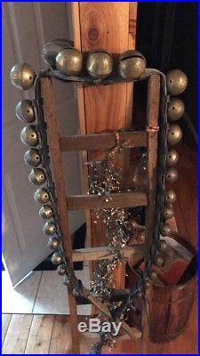 Vintage Antique 29 Brass Sleigh Bells