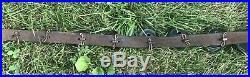 Vintage Antique 29 Numbered Brass Sleigh Bells On Original Leather Strap