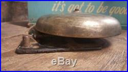 Vintage Antique Brass Boxing, Fire, School, Alarm, Bell, Gong 10
