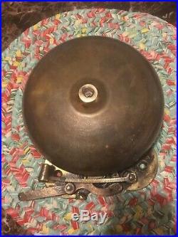 Vintage Antique Brass Boxing, Fire, School, Bell, 8 Brass Base Unrestored