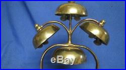 Vintage Antique Brass Horse Saddle Chimes Harness Bells