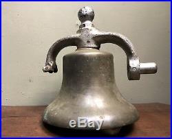 Vintage Antique Bronze Brass 25 lb Ship Railroad Bell Rare