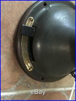 Vintage / Antique GE 12 Brass Blade, Brass Bell Fan