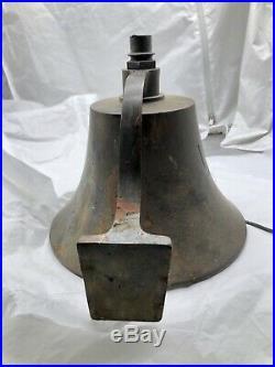 Vintage Antique USN US Navy Brass Bell 11 lbs