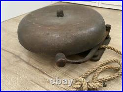 Vintage Antique Wall Mount Brass Boxing Ring Fight Bell Charles Cory & Son Inc