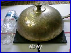 Vintage Antique brass fighting round bell MMA UFC boxing