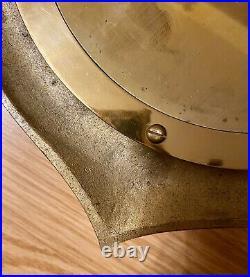 Vintage Bell Clock Co. Quartz Brass Anchor Ship's Clock