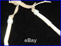 Vintage Blackfeet Child's Breastplate Dentalium Brass Bells Beads Abalone Hide