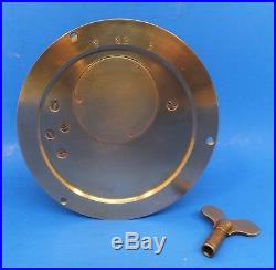 Vintage Boston Brass Ships Bell Clock Manual Wind Excellent Condition