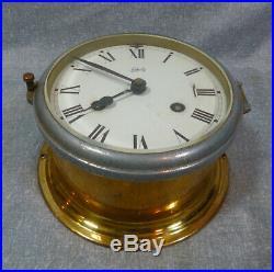 Vintage Brass Maritime German Made Ships Bell Clock by Schatz