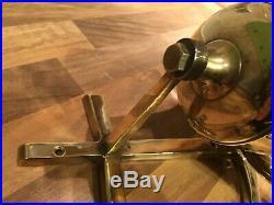 Vintage Cast Brass Ships Bell Anchor Bracket & Rope Maritime Marine Boat Yacht