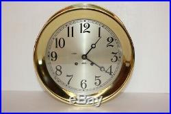 Vintage Chelsea Ship's Bell Clock 8.5 Dial circa 1967