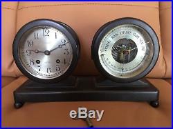 Vintage Chelsea Sips Bell Clock & Barometer Terheyden Co Pittsburgh