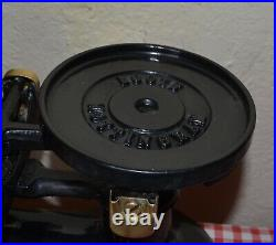 Vintage English Boots Kitchen Scales Black 7 Brass Bell Weights On Brass Tray
