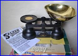 Vintage English Boxed Salter Scales 7 Quality Brass Bell Weights