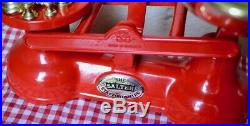 Vintage English The Salter Kitchen Scales Vibrant Red 7 Brass Bell Weights