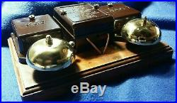 Vintage Gec Electric Bakelite Brass Bells Transformer Door Butler Shop Bell Push