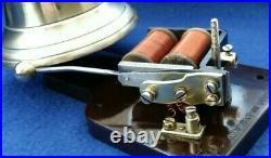 Vintage Gec Electric Bakelite Brass Door Bell & Buzzer Transformer Push Button