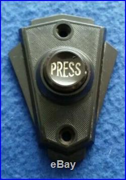 Vintage Gec Electric Bakelite Nickel Brass Door Bell Transformer Push Button